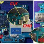 EMMC ISP pinout A105g A105m A105f mdm payjoy