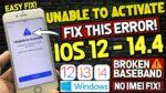 ICloud bypass Baseband broken Iphone 6-X