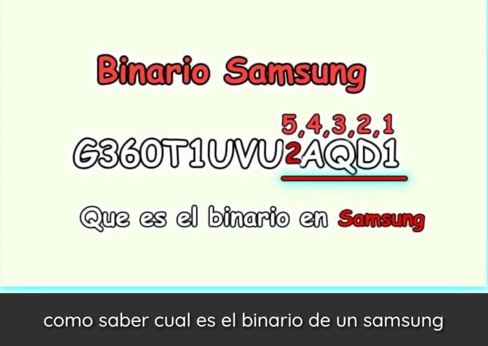 Tipos de binario Samsung